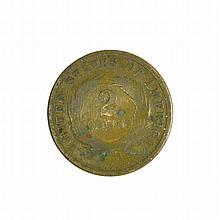 1864 2c piece Coin