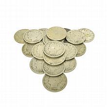 (20) 1883 - 1913 Liberty Head ''V'' Nickels Coin