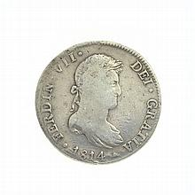 1814 Eight Reales American First Silver Dollar Coin