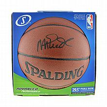 Very Rare Magic Johnson Signed Spalding Basketball Authenticated By PSA/DNA