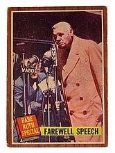 ^1962 Topps #144 Babe Ruth Special Farewell Speech