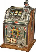 10 ¢ Mills Torch Front Slot Machine Restored Rare Size 15'''' x 16'''' x 25''''-PNR-Due to laws regulating the sale of Antique Slot Machines, I, as the seller, will not sell to members in the states of AL, CT,HI, NE,SC, and TN. Bids from members