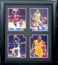 Kobe, Lebron, Jordan, Magic  - Engraved Signatures