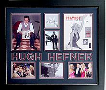 Hugh Hefner Authentic Signature Collage