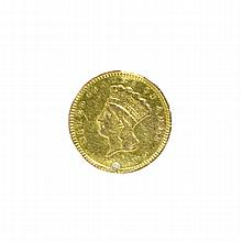 1857 $1 U.S. Indian Head Gold Coin