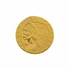 1910 $2.50 U.S. Indian Head Gold Coin