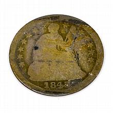 1843 Liberty Seated Half Dime Coin