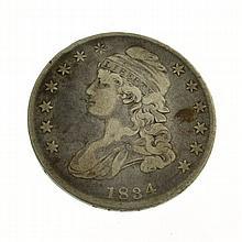1834 Bust Half Dollar Coin