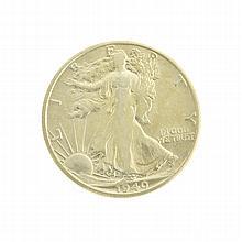 Rare Uncirculated 1940-S Liberty Walking Half Dollar Coin