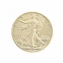 Rare Uncirculated 1942 Liberty Walking Half Dollar Coin
