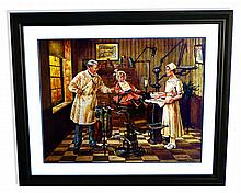Lee Dubin (After) The Dentist Lithograph - Original Signature