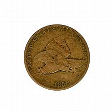 1858 Large Letters Flying Eagle Coin