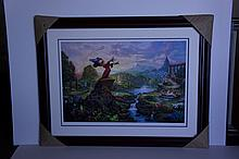 Rare Thomas Kinkade Original Limited Edition Numbered Lithograph Plate Signed Museum Framed ''Fantasia''