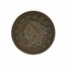 1831 Large Cent  Coin