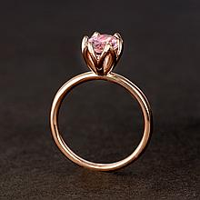 APP: 1.8k *14 kt. Rose Gold, 1.75CT Oval Cut Morganite Gemstone Engagement Ring (VGN A-105)