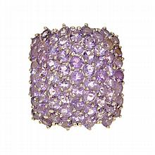 *12.3gm. One Of A Kind Custom Made Amethyst And Sterling Silver Ring (SI GR_0084)
