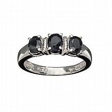 APP: 1k 1.32CT Oval Cut Blue Sapphire And Platinum Over Sterling Silver Ring