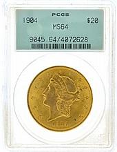 *1904 $20 U.S. MS 64 PCGS Liberty Head Gold Coin (DF)