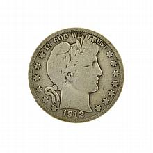 1912-D Barber Head Half Dollar Coin