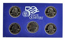 2000 United States Mint 50 State Quarters Proof Set Coin