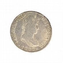 1818 Eight Reales American First Silver Dollar Coin