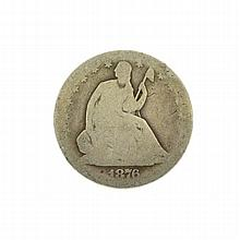 1876-S Libery Seated Half Dollar Coin