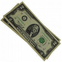 2 1976 $2 Bicentennial Notes