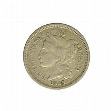 1865 3 Cent Nickel Coin