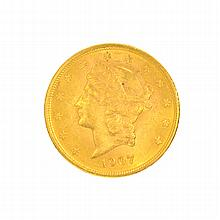*1907 $20 U.S. Liberty Head Gold Coin