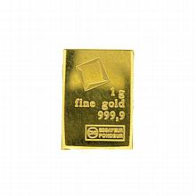1gm. Valcambi Suisse Gold Bar