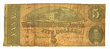 1864 $5 Confederate Note