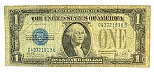 1928-B $1 U.S. Funny Back Silver Certificate