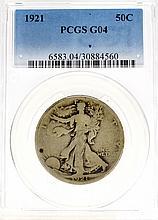 1921 50c PCGS G04 Walking Liberty Coin