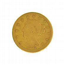 1856-S $2.5 U.S. Liberty Head Gold Coin
