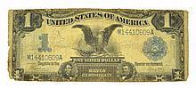 1899 $1 U.S. Black Eagle Silver Certificate  Coin