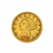 1878-S U.S. $2.5 Liberty Head Gold Coin