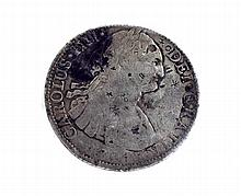 1791 Eight Reales First Silver Dollar Coin