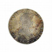 1820 Eight Reales American First Silver Dollar Coin