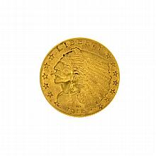 1915 U.S. $2.5 Indian Head Gold Coin