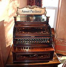 Rare Early Wood Cash Register - Fully Restored -P-