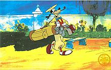 Walt Disney (After) Serigraph,Cell, Goofy How To Play Golf W/Certificate Of Authenticity