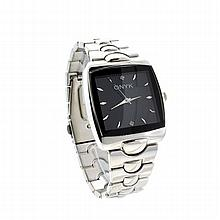 New Men's Onyk Stainless Steel Back, Quartz Water Resistant, Metal Strap, Watch