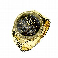 New Women's Geneva, Stainless Steel Back, Quartz Movement Watch