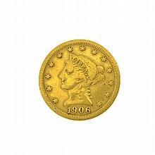 1906 U.S. $2.5 Liberty Head Gold Coin