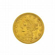 1855 U.S. $2.5 Liberty Head Gold Coin