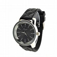 New Onyk, Stainless Steel Back, Water Resistant, Black Rubber Strap, Ladies Watch