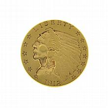 1912 $2.50 U.S. Indian Head Gold Coin