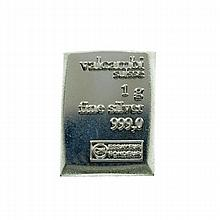 Valcambi Suisse 1gm Silver Bar