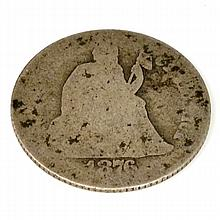 1876 Liberty Seated Dime Coin