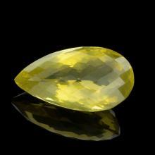APP: 4.2k 49.50CT Pear Cut Golden Citrine Quartz Gemstone